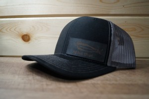 Black/Charcoal Hat (Black Leather)
