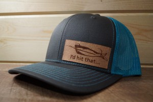 Blue/Charcoal Hat (Medium Leather)