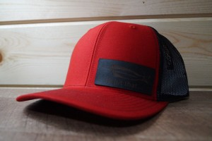 Red/Black Hat (Black Leather)